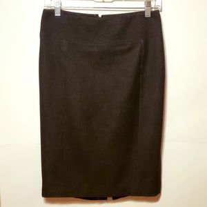 Express Office Denim Skirt